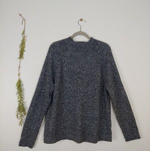 GAP Marled Merino Wool Blend Mockneck Sweater